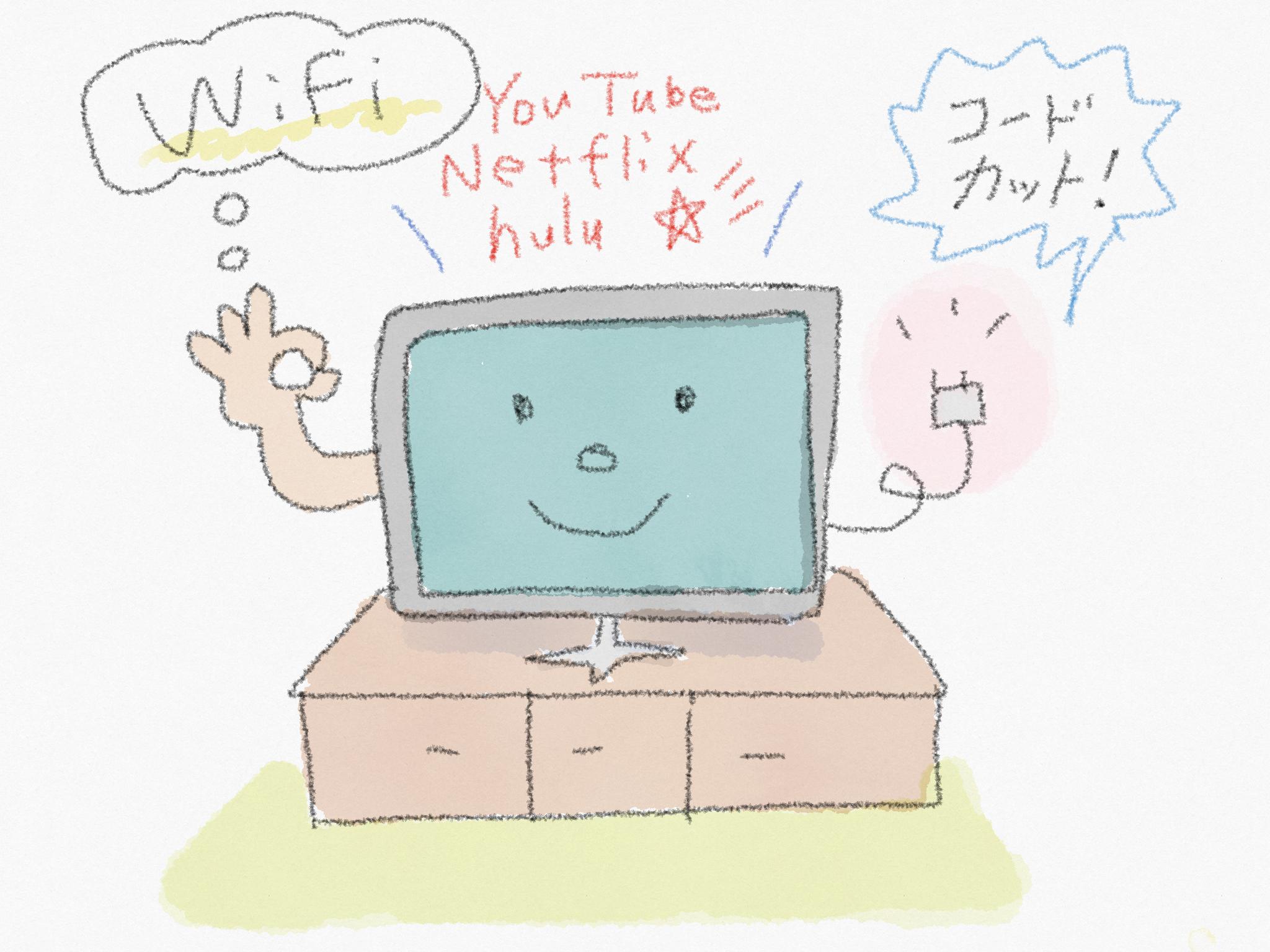 アメリカのテレビ事情~Cord Cutter(コードカッター)って何?駐在員がおすすめする3つの選択肢