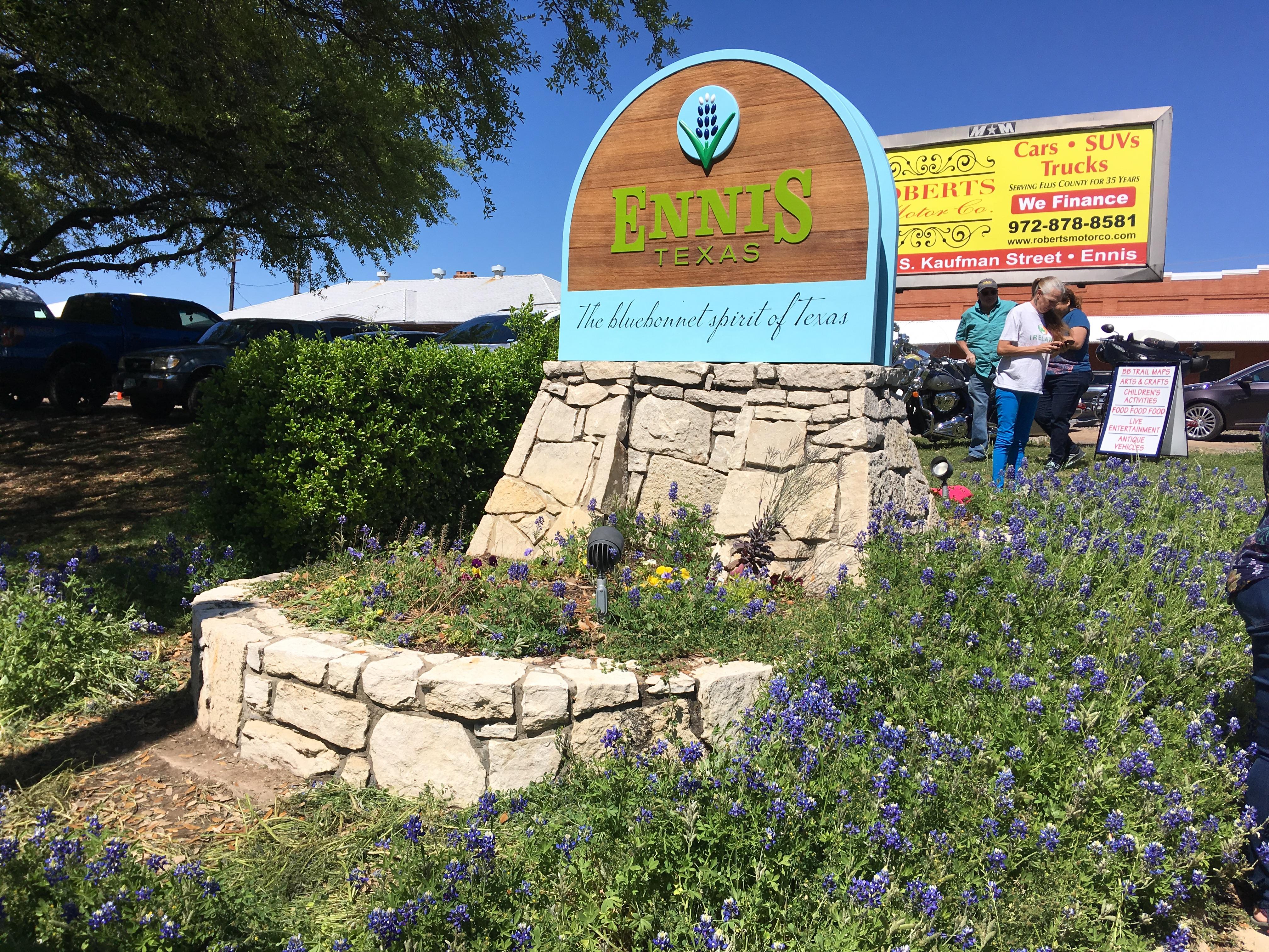 テキサス州エニス市のブルーボネット祭り