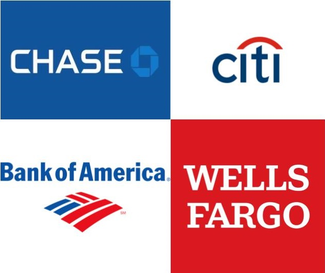 アメリカ四大銀行の新規口座開設ボーナスまとめ