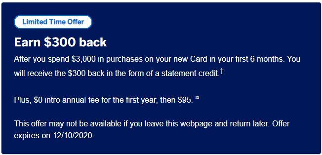 Limited Offer(Blue Cash Preferred)