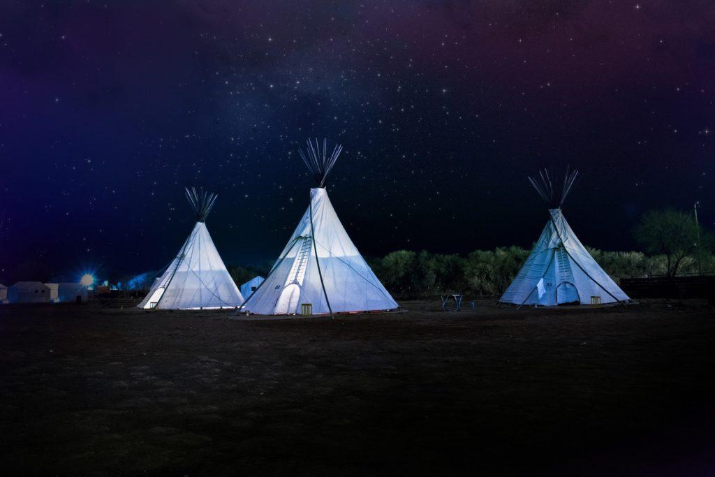 キャンプ(夜空)
