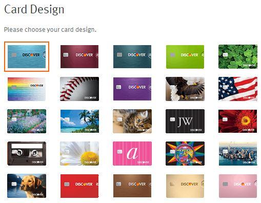 ディスカバーカードのデザイン