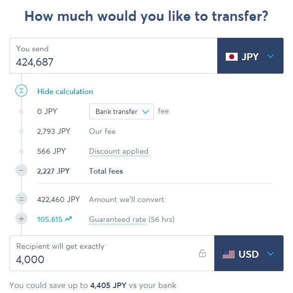 トランスファーワイズ海外送金