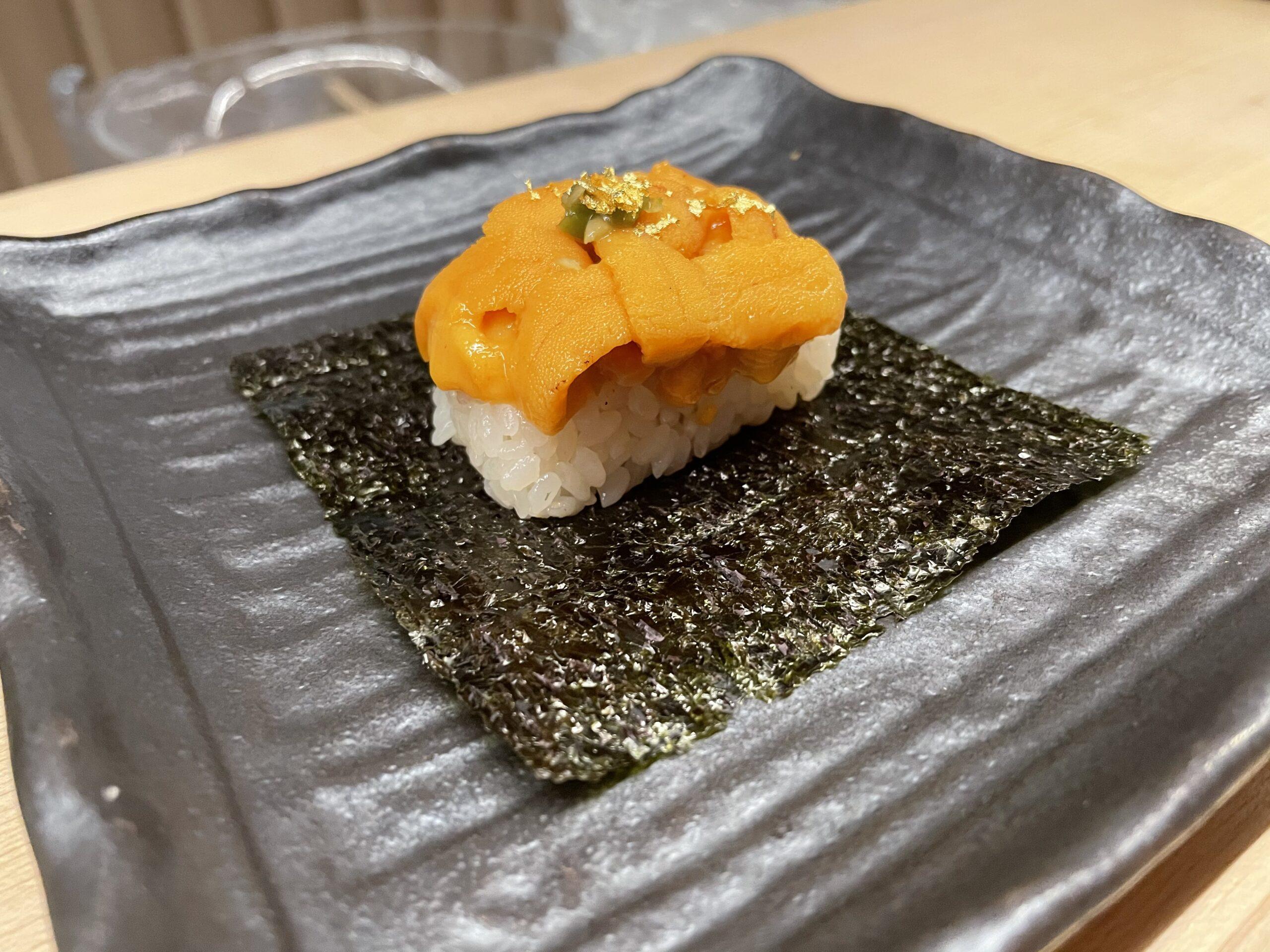 【ダウンタウン】北海道ウニも食べられる手巻き寿司Nori Handroll Bar