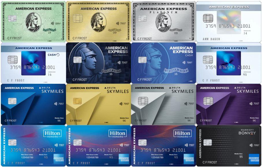 【2021年版】アメリカのアメックスクレジットカードリスト