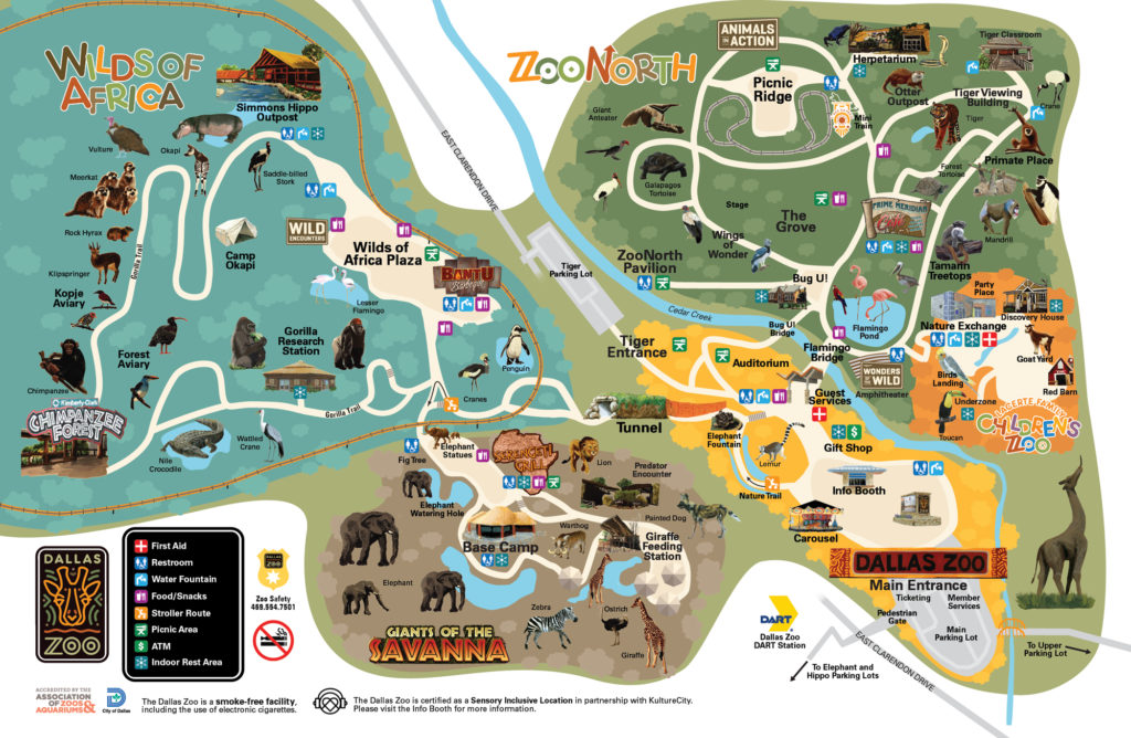 ダラス動物園マップ