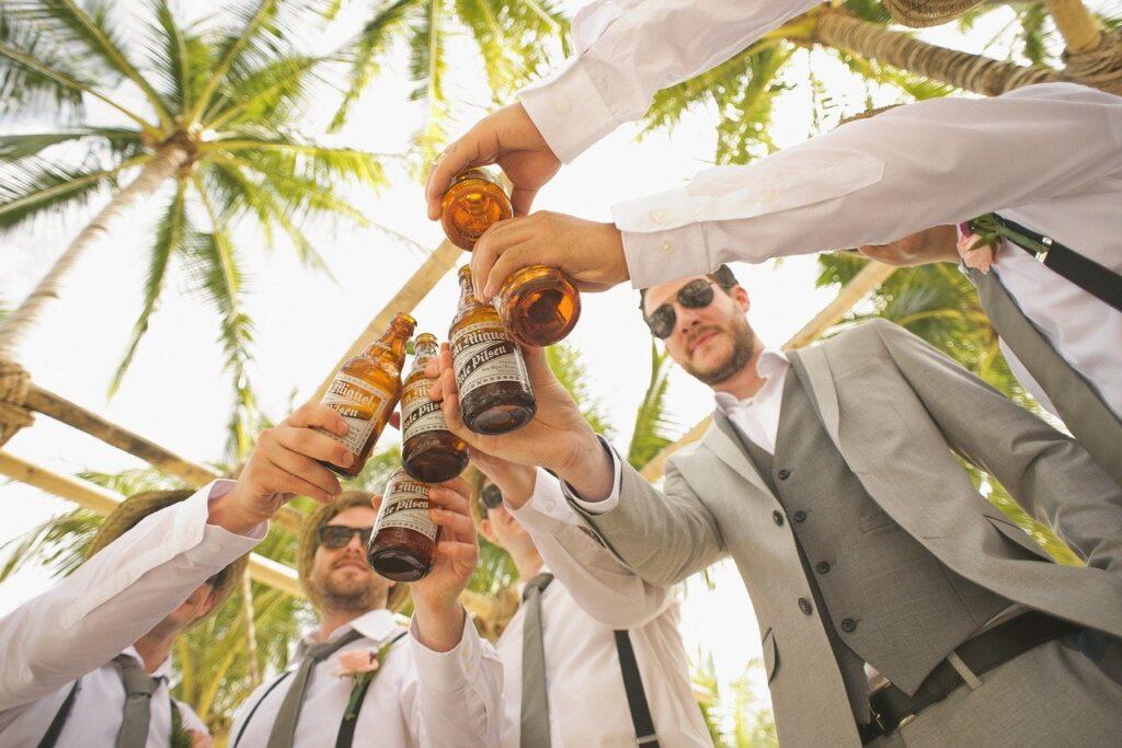ビールでお祝い